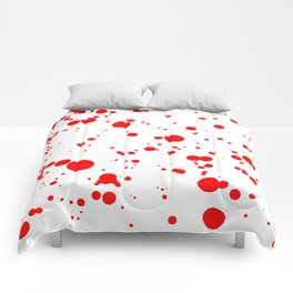 310001 Blood Red and White Painting Comforters