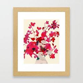 pink floral spring minimal Framed Art Print