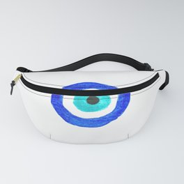 Single Evil Eye Amulet Talisman Ojo Nazar - on white Fanny Pack