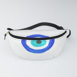 Single Evil Eye Amulet Talisman Ojo Nazar - on white Fanny Pack