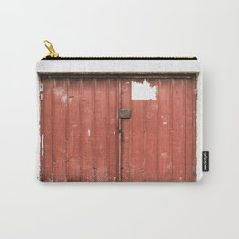 Kosovar Rustic Red Garage Door Carry-All Pouch