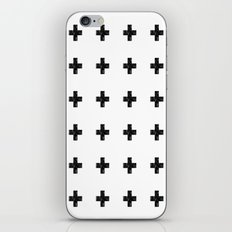 Watercolor Swiss Cross (White) iPhone & iPod Skin
