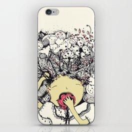 cerebro flor iPhone Skin