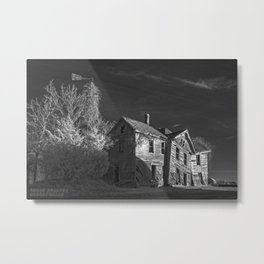 The Crooked House in Sepia Metal Print