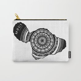 The Island of Maui [Tribal Illustration] Carry-All Pouch