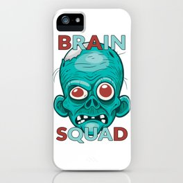 Brain Squad Gang style Graphic iPhone Case