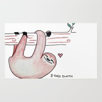 sloth Area & Throw Rugs featuring Sloth by Daynasdoodleydoos