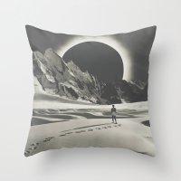 interstellar Throw Pillows featuring Interstellar by Douglas Hale