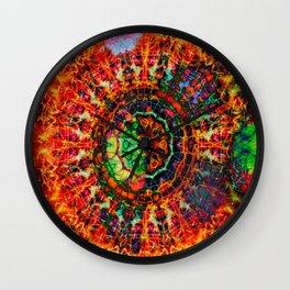 Ring Of Fire Mandala Wall Clock