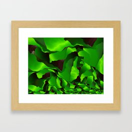 Green frayed abstraction Framed Art Print