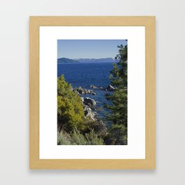 Trees + Tahoe Framed Art Print