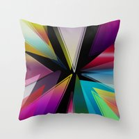 triangle Throw Pillows featuring Triangle by Jason Michael
