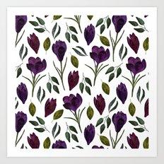 Plum Rose Garden Art Print