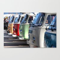 hippy Canvas Prints featuring Hippy Vans by Barbo's Art