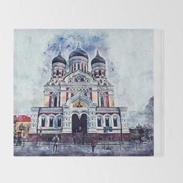 Alexander Nevsky Cathedral Tallinn Throw Blanket