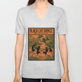 Black Cat Dance (1916) Unisex V-Neck