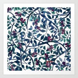 Butterflies in the Garden Art Print