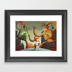 RoboMonsters Framed Art Print