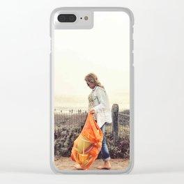 Beach Wanderlust Clear iPhone Case