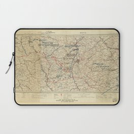 World War I German Army Positions Map (circa 1918) Laptop Sleeve