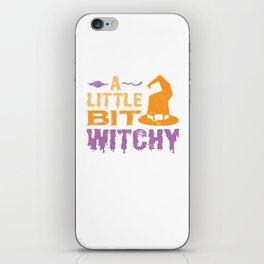 A Little Bit Witchy Halloween Design for Men Women Kids iPhone Skin