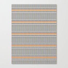 Geometric Stripes Seamless Vector Pattern Art Deco Canvas Print