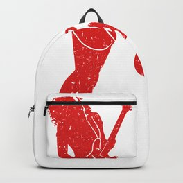 I Know I Play Like A Girl Try To Keep Up With A Silhouette Of A Woman T-shirt Design White Musician Backpack