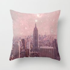 Stardust Covering New York Throw Pillow