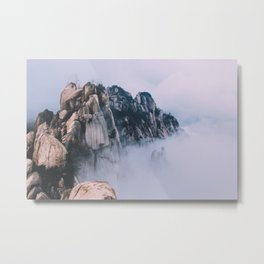 Cliffs In The Clouds Metal Print