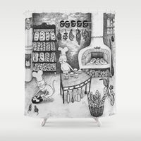 baking Shower Curtains featuring Baking Cats by Ulrika Kestere
