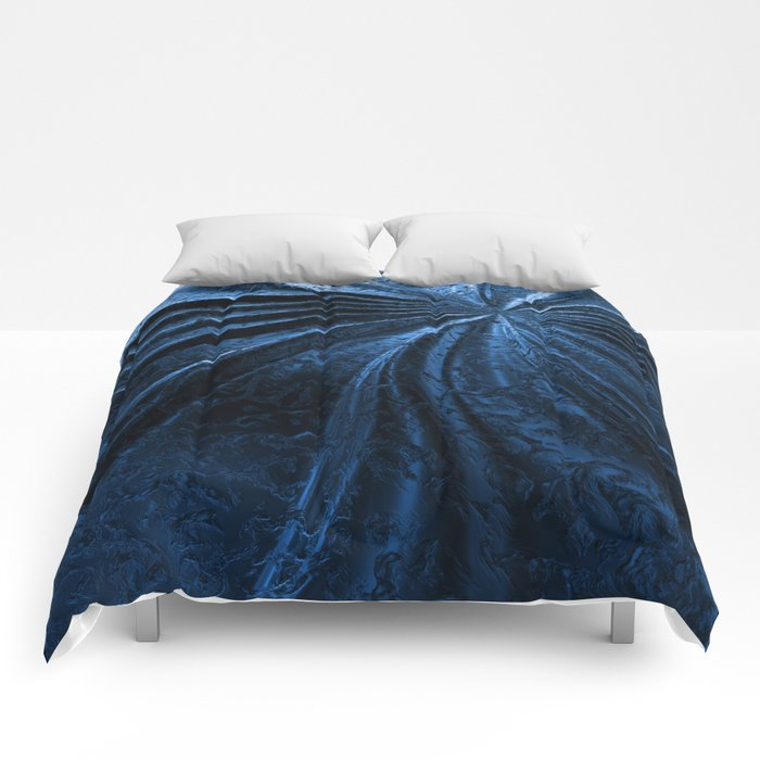 Cold Metal Abstraction Comforters