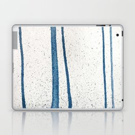 Parallel Universe [vertical]: a pretty, minimal, abstract piece in lines of vibrant blue and white Laptop & iPad Skin