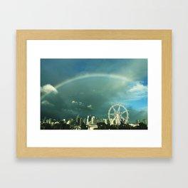 Rainbow over Melbourne Framed Art Print