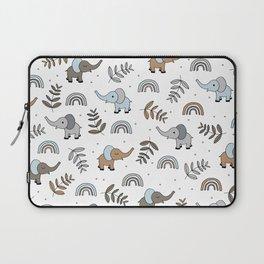 Little Elephant safari rainbow love neutral nursery Laptop Sleeve