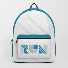 Run - Teal & Silver Geometric Shapes Backpack