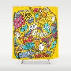 AW YEA! Shower Curtain