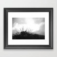 Misty moon Framed Art Print