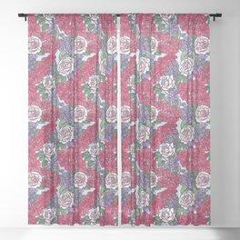 Chevron Floral Bright Sheer Curtain