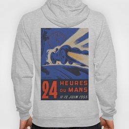 1955 Le Mans poster, vintage car poster, Le Mans poster, Hoody