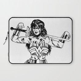 Blood-Spattered Wonder: Diana of Themyscira Laptop Sleeve