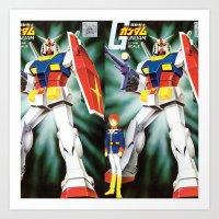 gundam Art Prints featuring Gundam by Danny Rutledge