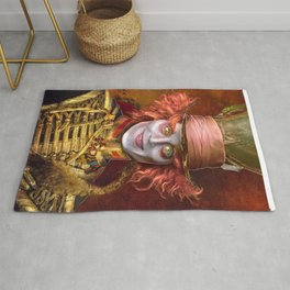 Mad Hatter General Portrait Painting Fan Art Rug