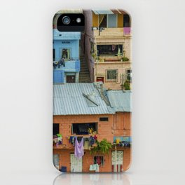 Colorful Houses on a Hill iPhone Case