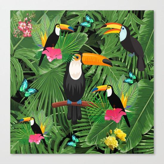 Toucan tropic Canvas Print