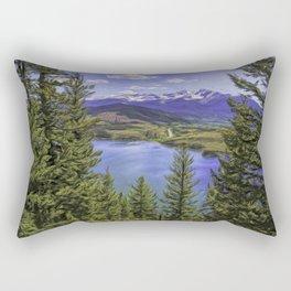 Sapphire Point 2 Painted Rectangular Pillow
