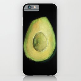 Empty Avocado Oil Pastel Painting by Brooke Figer iPhone Case