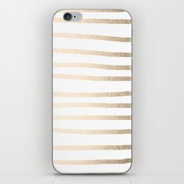 Simply Drawn Stripes in White Gold Sands iPhone Skin