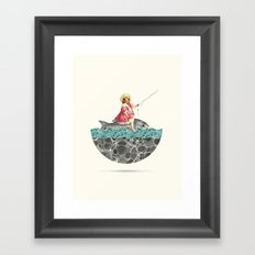 Gone fishing Framed Art Print