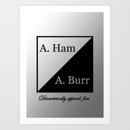 A. Ham / A. Burr Art Print