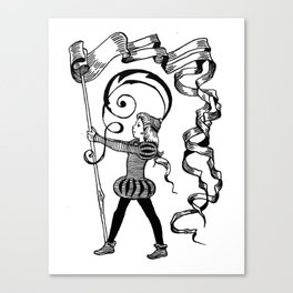page-boy Canvas Print